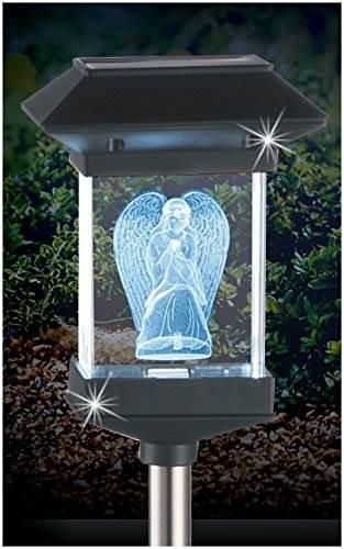14&#8221 Solar LED Memorial 3D Crystal Light