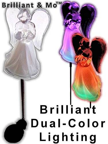 Acrylic Solar Angel Lights With A Frosted Skirt Solar Garden Stake &#8211 Box