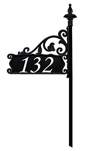 Boardwalk Reflective 911 Home Address Sign For Yard &#8211 Custom Made Address