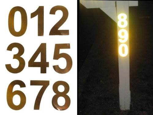 Bright Ideas RA1 Reflective Address Numbers &#8211 Up To 4 Numbers