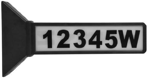 Moonrays 91919 15.2-Inch 2-Sided Solar Address Sign Black