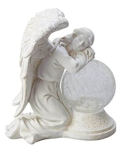 Moonrays 92367 Serene Angel Garden Statue With Crackle Globe &#038 Solar