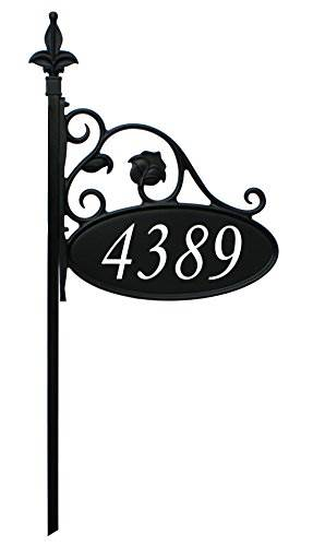 Park Place Oval Reflective 911 Home Address Sign For Yard – Custom Made