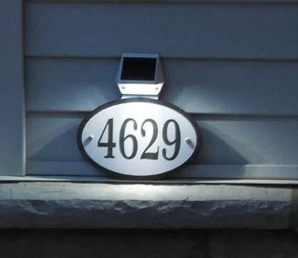 Solar Light House Number Sign &#8211 Comfort House # J0014