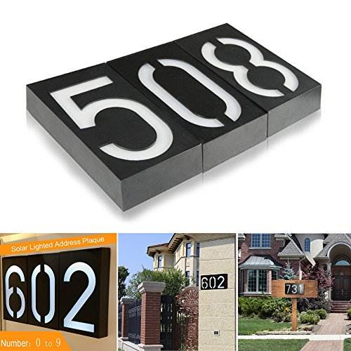 Solar Lighted Address Plaques &#8211 Address Sign For Your Home &#8211 Bright