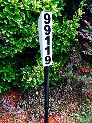 Solar Lighted Address Sign &#8211 Bright Custom House Plaque To Help Emergency