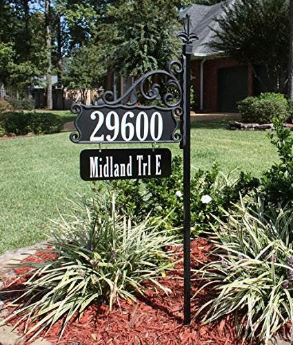 USA Handcrafted Boardwalk Double Sided Super Reflective Address Sign 48&#8243