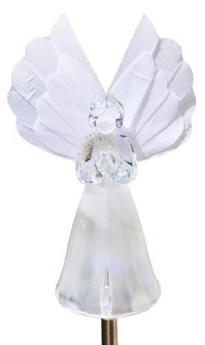 Solaration 1033 Frosty Snow White Angel Garden Light Fiber Optic Wing