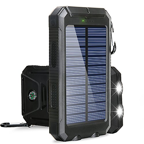 Solar Charger BESWILL 10000MAH Solar Phone Charger Waterproof